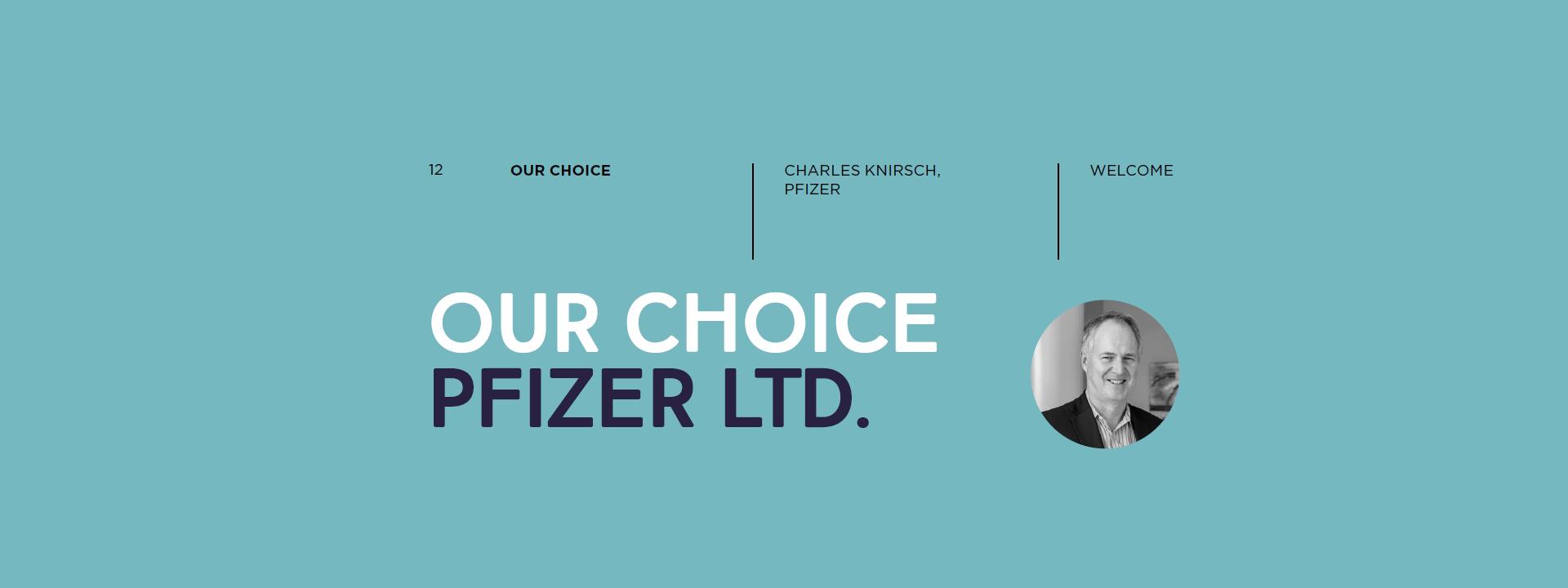 Our Choice: Pfizer Ltd  - Combacte